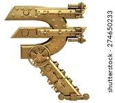golden currency indian rupee... | Shutterstock . vector #274650233