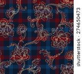 eclectic fabric plaid seamless... | Shutterstock .eps vector #274650473
