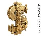 golden currency dollar symbol... | Shutterstock . vector #274650653