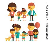 vector set of characters in a... | Shutterstock .eps vector #274655147