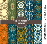 collection of floral patterns... | Shutterstock .eps vector #274656167