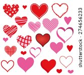 set of hearts | Shutterstock .eps vector #274656233