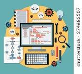 program coding  seo algorithm... | Shutterstock .eps vector #274682507
