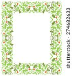 floral frame in medieval style. ... | Shutterstock .eps vector #274682633