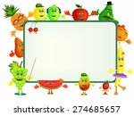 colorful healthy fruit cartoon... | Shutterstock .eps vector #274685657