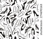 women shoes seamless pattern.... | Shutterstock .eps vector #274690163