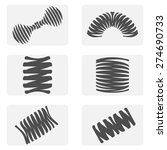 monochrome icon set with springs | Shutterstock .eps vector #274690733