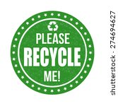 Please Recycle Me Grunge Rubbe...