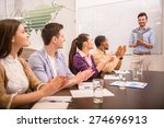 cheerful business people... | Shutterstock . vector #274696913