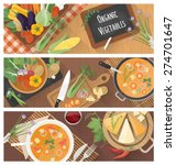 cooking and healthy eating... | Shutterstock .eps vector #274701647