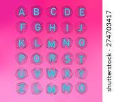 geometric font. creative... | Shutterstock .eps vector #274703417