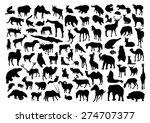 wild animals set | Shutterstock .eps vector #274707377