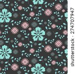 seamless pattern with beautiful ... | Shutterstock .eps vector #274707947