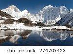 View Of Mount Makalu Mirroring...