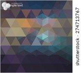 vector geometric background for ... | Shutterstock .eps vector #274713767