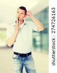 handsome young man wondering... | Shutterstock . vector #274726163