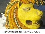 Lion Float In Rose Bowl Parade...