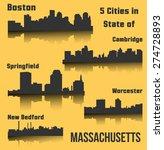 Set Of 5 City In Massachusetts...