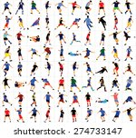 different  poses of soccer... | Shutterstock .eps vector #274733147