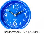 Blue Alarm Clock Isolated On...