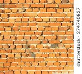 brick wall. vector background.... | Shutterstock .eps vector #274740827