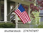 an american flag out in the... | Shutterstock . vector #274747697