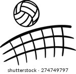 volleyball flying over net | Shutterstock .eps vector #274749797