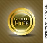 gluten free gold shiny medal | Shutterstock .eps vector #274764983