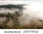 misty morning sunrise and road... | Shutterstock . vector #274779767