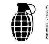 hand grenade  black white... | Shutterstock .eps vector #274798793