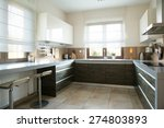 spacious kitchen with window in ... | Shutterstock . vector #274803893