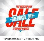 memorial day sale banner | Shutterstock .eps vector #274804787
