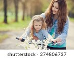 beautiful young mother teaching ... | Shutterstock . vector #274806737