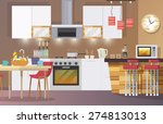 kitchen interior concept with... | Shutterstock .eps vector #274813013