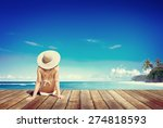 Relaxation Beach Woman Vacatio...