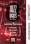 jazz music poster template.... | Shutterstock .eps vector #274822637