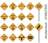 traffic sign  yellow  | Shutterstock .eps vector #274827593