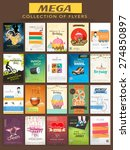 mega collection of stylish... | Shutterstock .eps vector #274850897