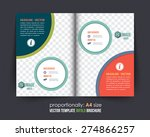 business style bi fold brochure ... | Shutterstock .eps vector #274866257