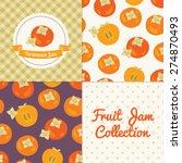 homemade persimmon jam... | Shutterstock .eps vector #274870493
