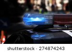 blue flashing sirens of police... | Shutterstock . vector #274874243