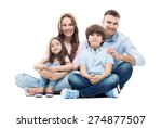 family sitting together  | Shutterstock . vector #274877507