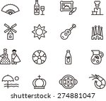 spain outlined icon set | Shutterstock .eps vector #274881047