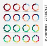 segmented and multicolored pie... | Shutterstock .eps vector #274887617