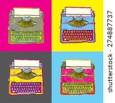 vintage typewriter vector pop... | Shutterstock .eps vector #274887737