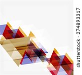 abstract geometric background.... | Shutterstock .eps vector #274893317