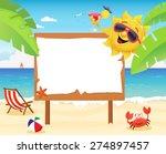 summer billboard   Shutterstock .eps vector #274897457