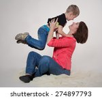 mother and son | Shutterstock . vector #274897793