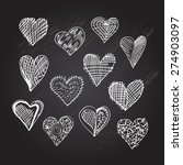abstract hand drawn hearts set  ... | Shutterstock .eps vector #274903097