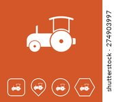 road roller icon on flat ui...